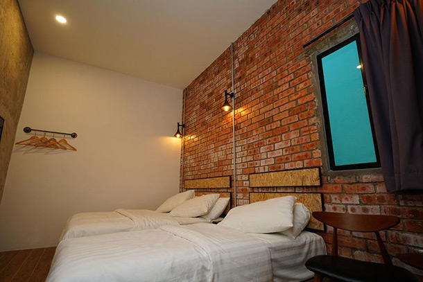Brick Box Hotel Room